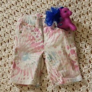 Levi, tie dye bermuda shorts